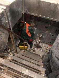 Механическая прочистка трубопровода